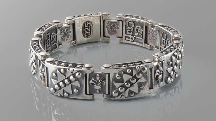 Men's jewelleryy bracelet sterling silver
