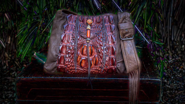 Crocodile Leather Hand Bag