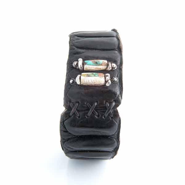 Artissimo Crocodile Leather Bracelet Silver Clip