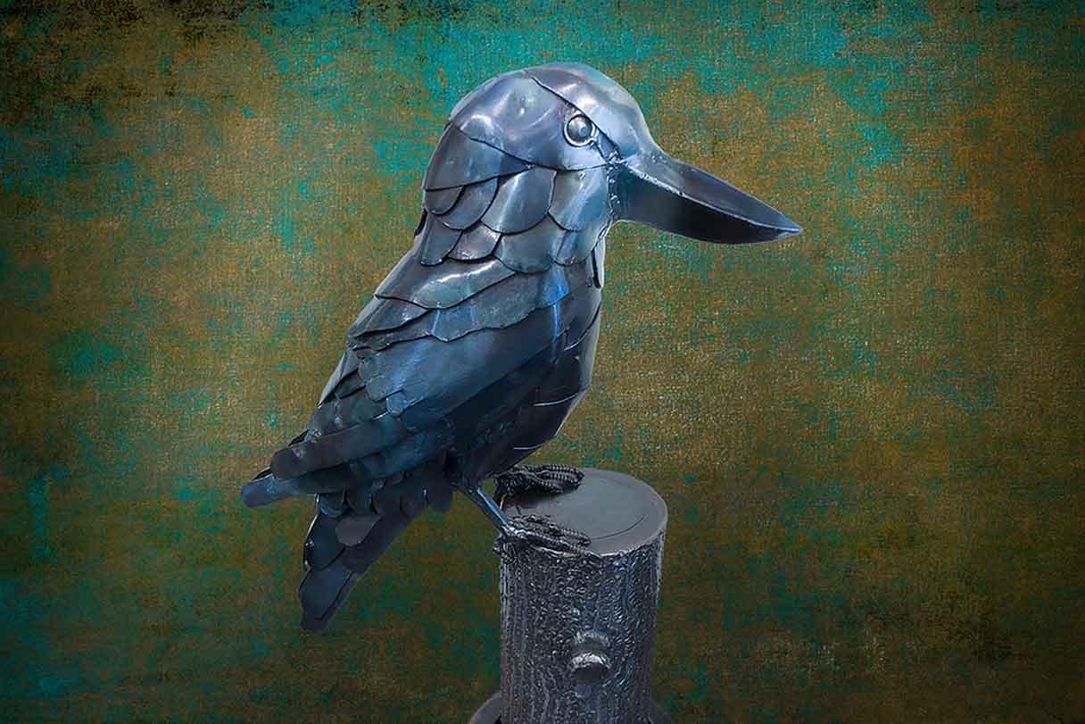 Kookaburra metal sculpture