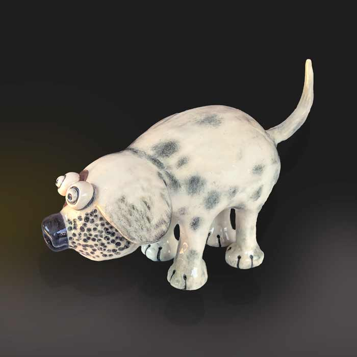 dog ceramic animal