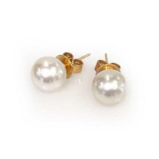 pearl stud earrings 9ct gold
