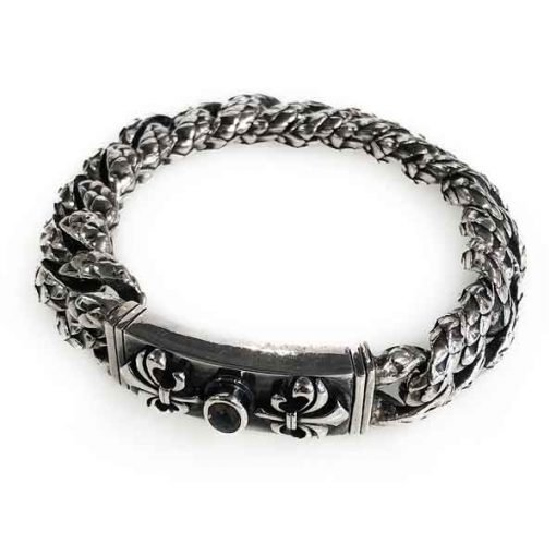 bracelet silver dragon scale chain