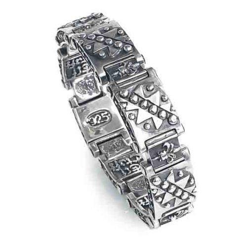 bracelet silver pyramids triangles