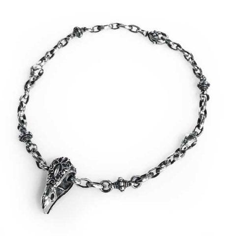 necklace eagle skull sterling silver