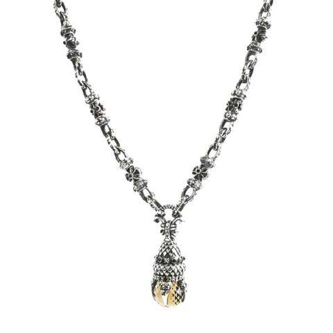 necklace silver dragon claw set smokey quartz