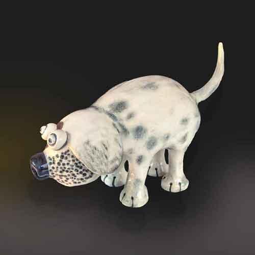 dog ceramic animal