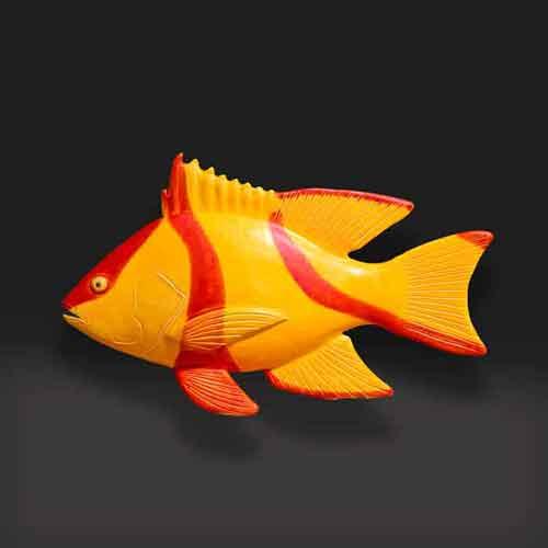 ceramic red emperor fish