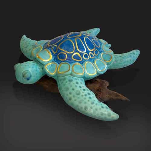 ceramic sea turtle  pottery
