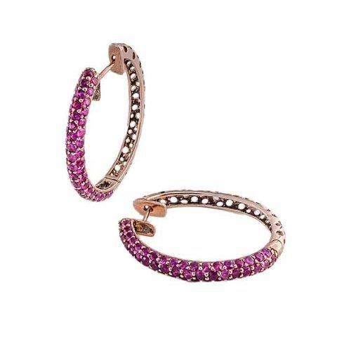Earrings-silver-purple-sapphires