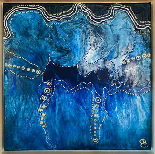 Blue Lagoon acrylic painting