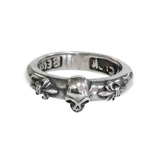 ring silver skull polished