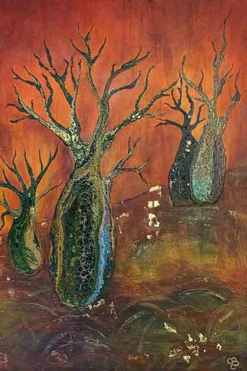 Painting-acrylic-Boab-Tree-by-Claudia-Billiau