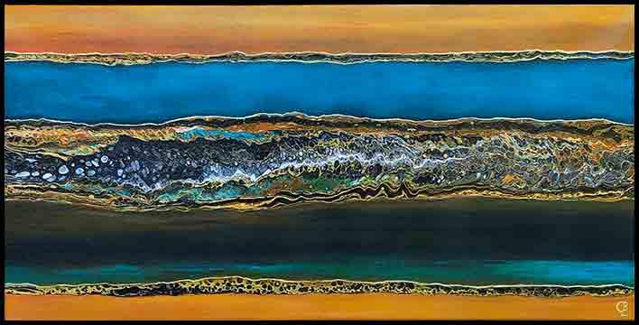 Seaside Rendezvous Acrylic Painting